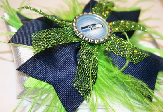 Seahawks Inspired Game Day Bowtique Bow