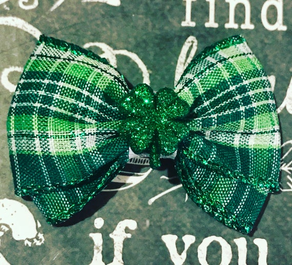 "2"" St. Patrick's Day Mini Bow"