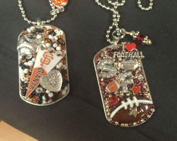 San Francisco Giants OR 49ers Inspired Bling Embellished Necklace