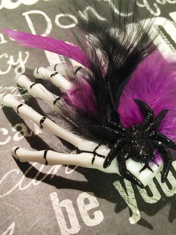 Creepy Skeleton Hand Hair Clip