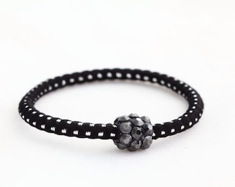 Silver spots ponytail holder with Swarovski elements crystal 91b0257114c