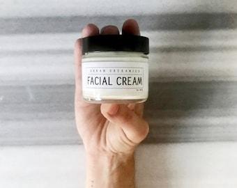 FACIAL CREAM // Anti-Aging & Skin-Clearing Green Tea Moisturizer - - - Vegan ∙ Organic ∙ 100% Natural