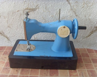 Soviet Vintage Blue Sewing Machine For Kids Made in USSR in 1970s