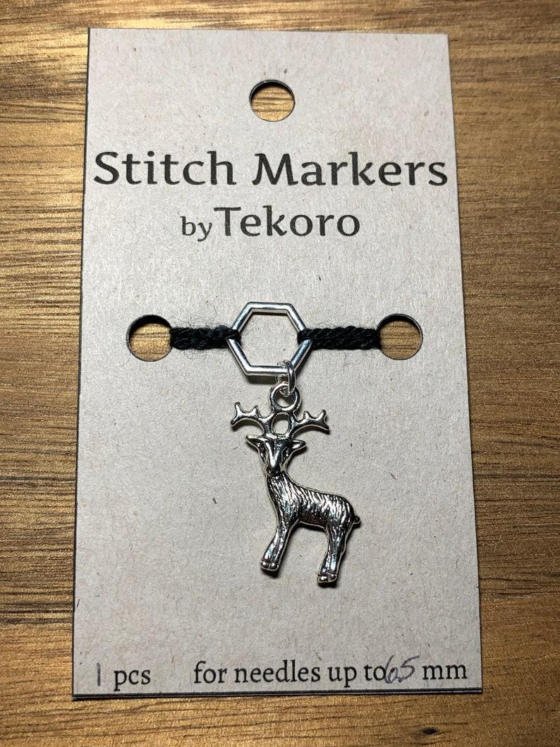 1-5 pcs Silver Stag Stitch MarkerProgress Keeper Set