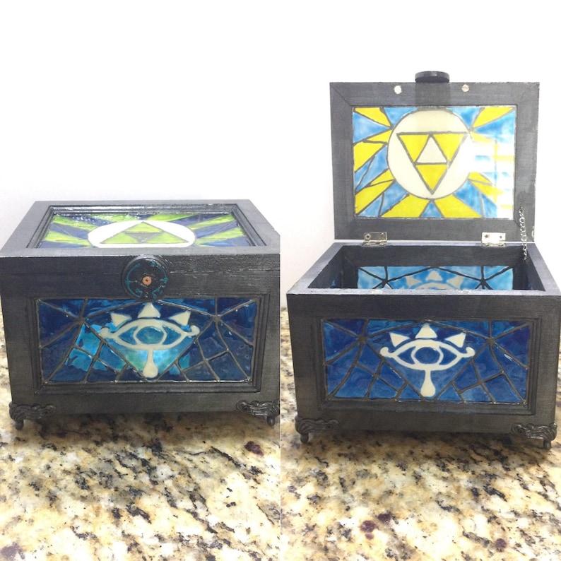 Sheikah Stained Glass Trinket Box image 0