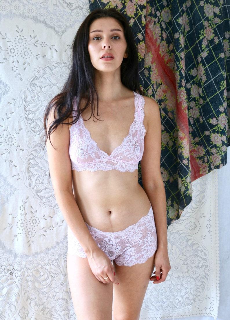 17862f34e9e Lingerie set in Sugar Plum Pink Floral Lace Lingerie Bridal