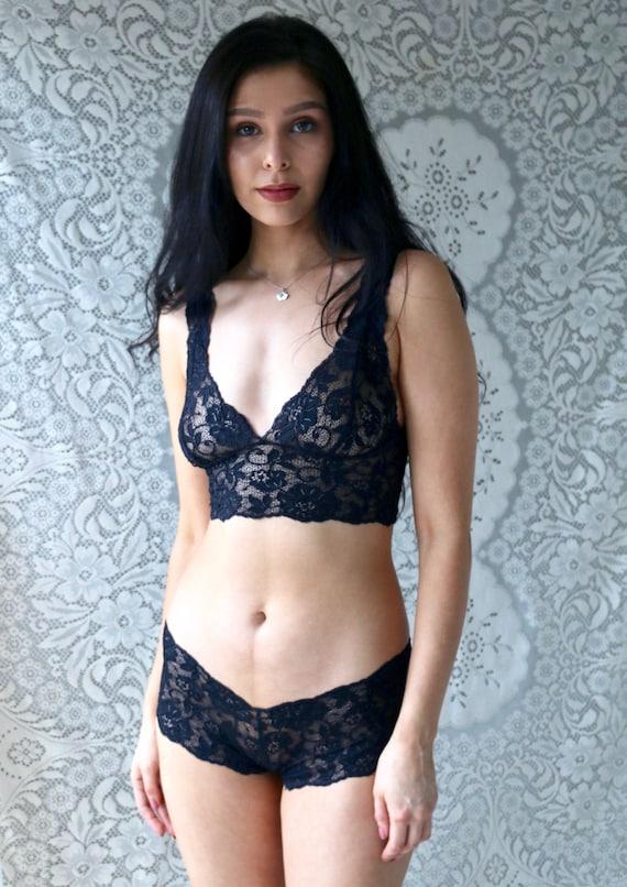 345e2e2f674b Sheer lingerie black lingerie lace see through lingerie | Etsy
