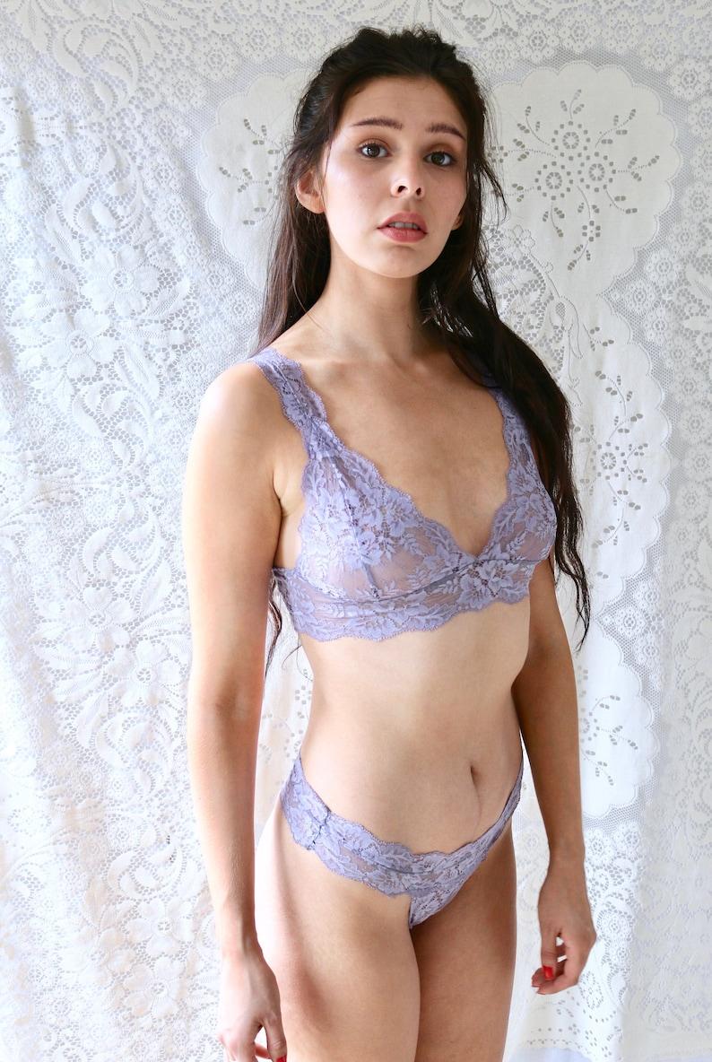 86645a29df Lingerie set in fig purple lingerie lace bralette set lingerie
