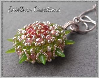 "Beaded pendant ""Sea Urchin"" - tutorial"
