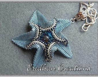 "Beaded pendant ""Twisted Star"" - tutorial"