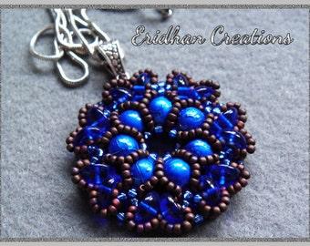 """Beaded pendant """"Rosetta"""" - tutorial for Piggy beads"""