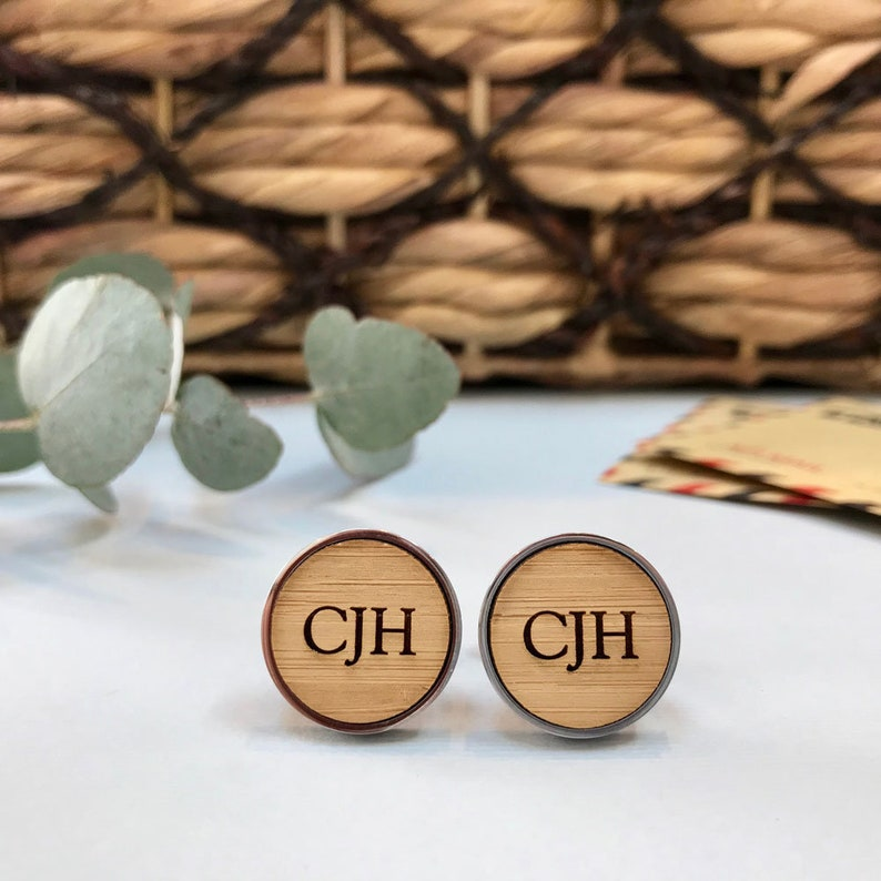 Fathers Day Gifts Stainless Steel Monogram Cufflinks USA Seller Personaliz