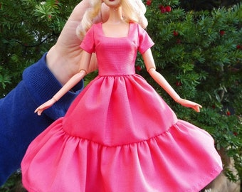 Barbie doll dress clothes fashion pink romance pretty organic cotton eco fair plastic free sustainable fabric - no 13