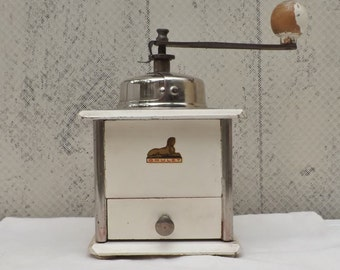 French coffee grinder vintage French coffee mill Grulet coffee grinder French home decor loft retro industrial
