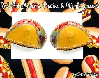 Rhinestone Tacos Burlesque Pasties (Any Toppings)