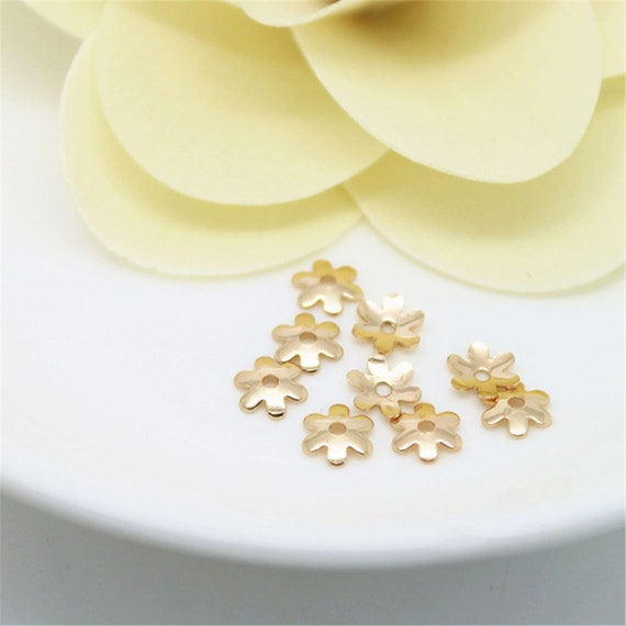 50pcs Gold Plated Wholesale Bead Caps DIY Jewerly Findings 16*11mm Crafts Making