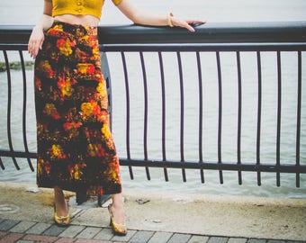 70s Velvet Skirt
