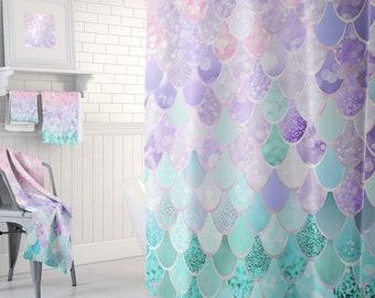 Charmant Mermaids, Mermaid Shower, Mermaid, Mermaid Bathroom, Mermaid Curtain,  Mermaid Decor, Mermaid Bath Decor   Shower Curtain, Towels, Bath Mat
