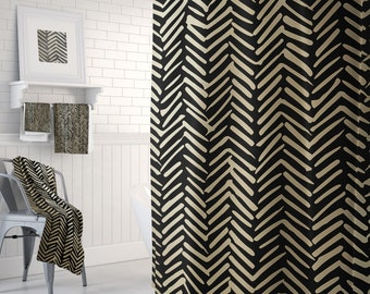Black And Gold Bathroom Decor Shower Curtain