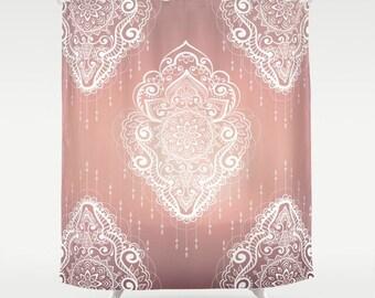 Boho Modern Shower Chic Gypsy Curtain Bathroom Decor Bohemian Hippie Set