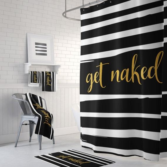 Get Naked Curtain Panel Shower Bathroom