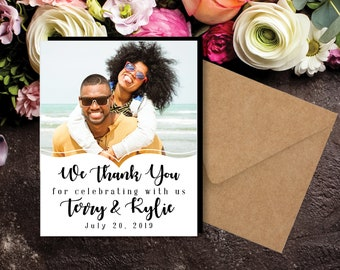 The Perfect THANK YOU MAGNETS | Envelopes Included | party favors, photo magnets, wedding favors, wedding thank you, mailable thank you