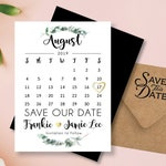 Gracious & Green Save our Date Calendar Magnets, personalized, green wedding, natural wedding, outdoor wedding >> Envelopes Included
