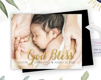 Golden God Bless Photo Magnets,   Envelopes Included   bautizo, bautizada, Dios bendiga, spanish, christening, mailable