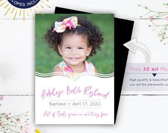 Modern Baptism Photo Magnets   Envelopes Included   baptism favors, christening favors, baptism keepsake favor, bautismo, mailable