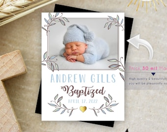 Oh So Lovely Baptism Photo Magnets   Envelopes Included   party favors, baptism favors, christening favors, baptism photo magnets
