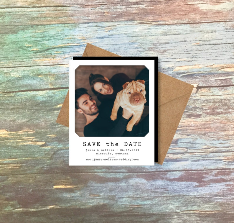 Lovely Save the Date Photo Magnets wedding magnets image 0