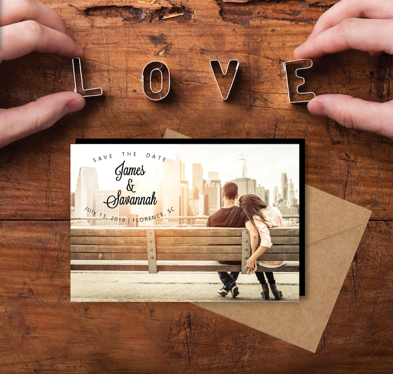 Charming Save the Date Magnets personalized photo magnets image 0