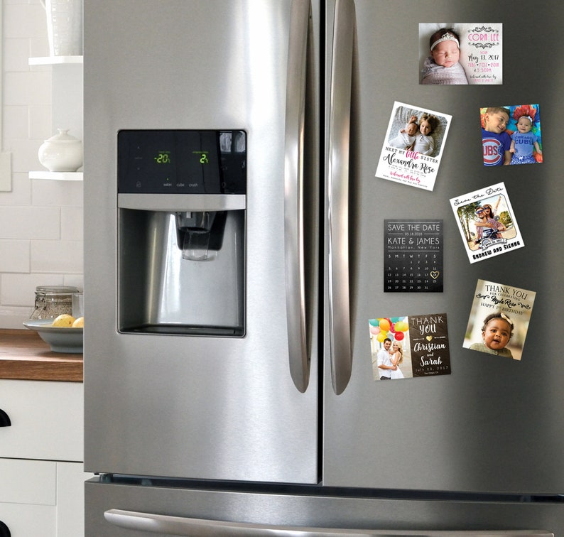 Birth Announcement Photo Magnets  Envelopes Included  FREE SHIPPING