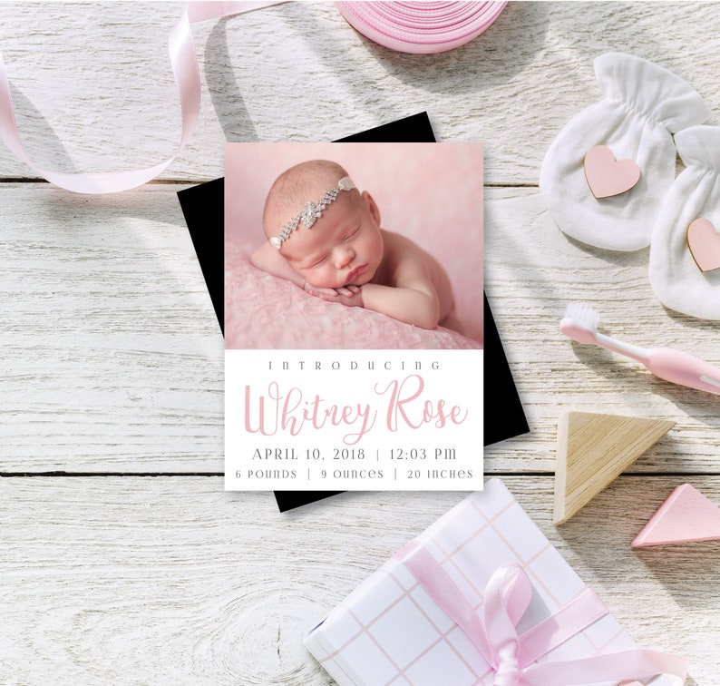 Birth Announcement Photo Magnets  Envelopes Included  image 0