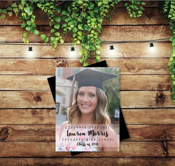 perfectly graceful graduation photo magnets personalized etsy