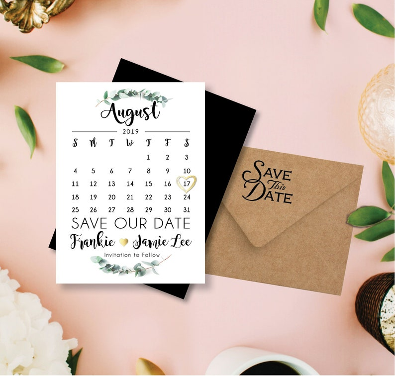 Gracious & Green Save our Date Calendar Magnets personalized image 0
