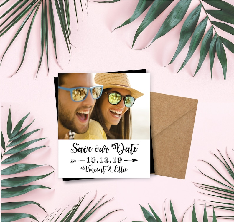 Simple & Sassy Save the Date Magnets photo magnets wedding image 0