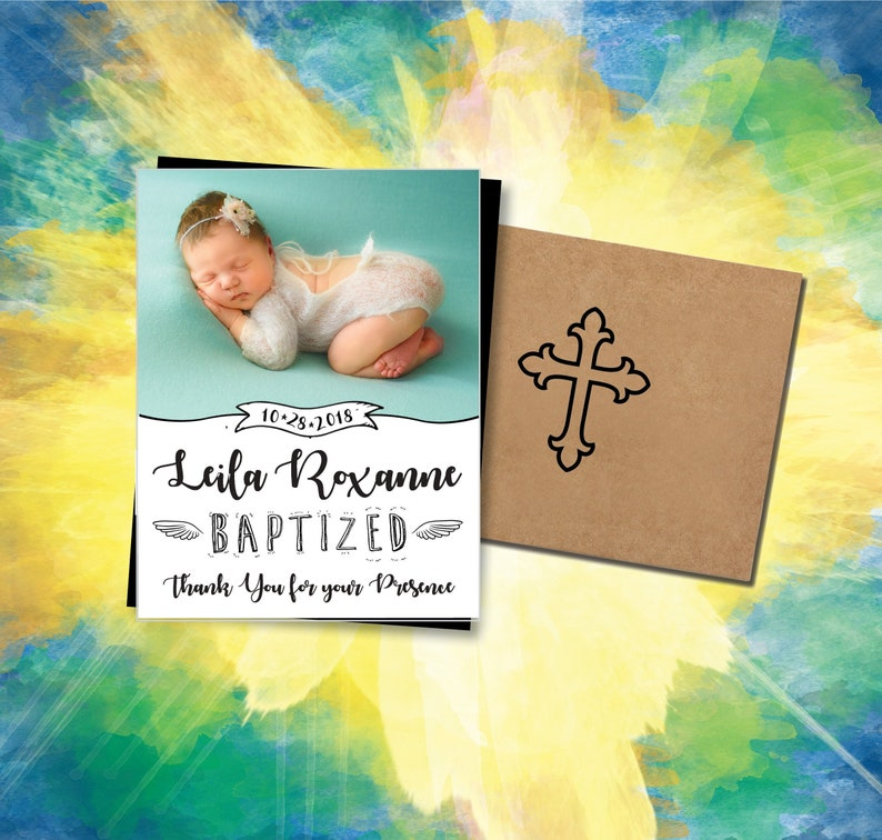 Blessed & Beautiful Baptism Photo Magnets high quality image 0