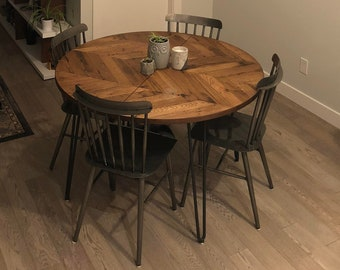 Round Dining Table With Leaves Etsy