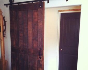 Reclaimed Barn-Door with Vintage steel tracking