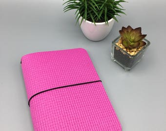 Hot Pink FitJot - A5 - Vegan Traveler's Notebook/Fauxdori/TN Planner Cover