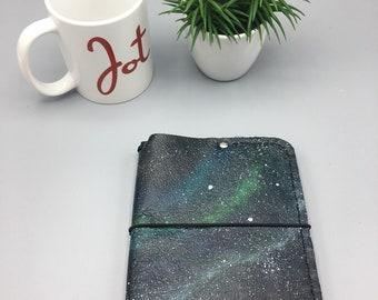 Handpainted Galaxy- A6 JournalJot - Traveler's Notebook | Fauxdori | TN