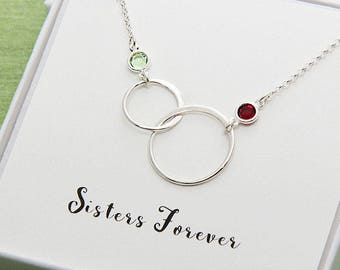 Sister necklace etsy gift for sister sister necklace sisters necklace birthday sister gift sorority sister sister gift idea sister jewelry gift for women aloadofball Image collections