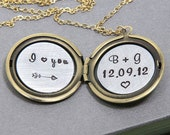 Secret Message Locket, Personalized Necklace, Locket Necklace, Personalized Locket, Wedding Gift, Anniversary Necklace, Custom Necklace