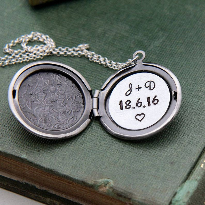 Locket Necklace Personalized Necklace Personalized Jewelry image 0