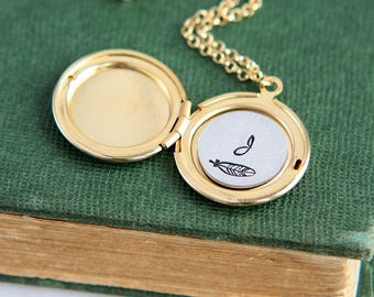 Locket Necklace, Personalized Necklace, Initial Locket, Initial Necklace, Silver Locket, Locket Pendant, Personalized Jewelry, Gift for Her