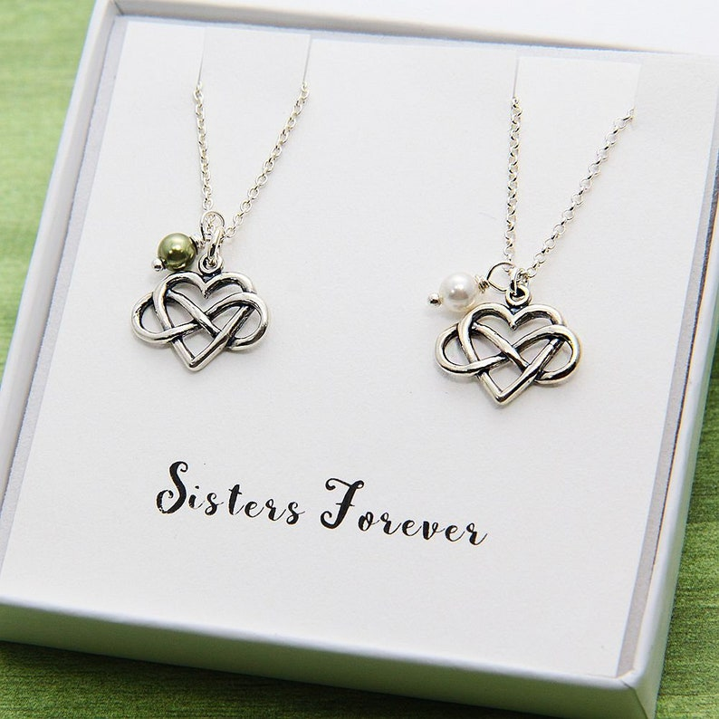 Sister Gift Necklace Personalized Sisters Jewelry For Birthday 2