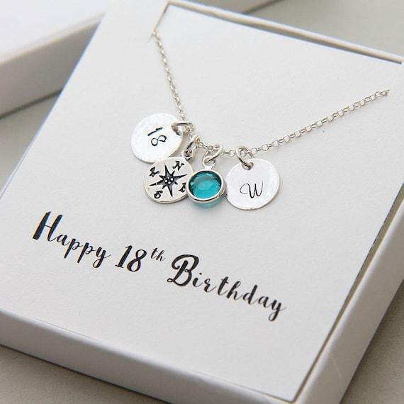 18 Geburtstag Geschenke Fur Madchen Geburtstag Halskette Etsy