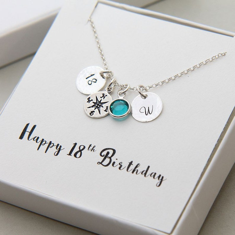 18th Birthday Gifts Compass Necklace Gift For Daughter