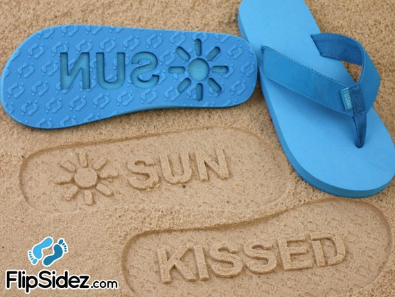 3f86852dc98d7 Personalized Sand Imprint Sandals Design Your Own Beach Pair